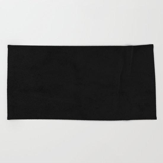 Tribal Black Earth Beach Towel