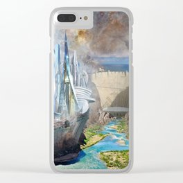 Sci-Fi City Clear iPhone Case