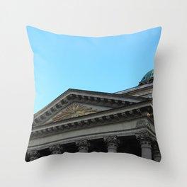 Facade of Kazan Cathedral Throw Pillow