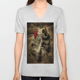 Shoes On The Danube Bank Art Unisex V-Neck
