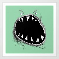monster Art Prints featuring monster by Кaterina Кalinich