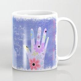 Thank you God (Hand art) Coffee Mug