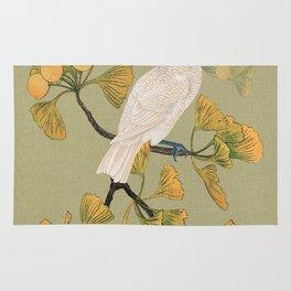 Cockatoo and Ginkgo Tree Rug