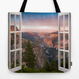 Hills through the window 2 Tote Bag