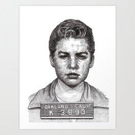 Little Jimmy Finkle Leader of the Gumball Gang Art Print