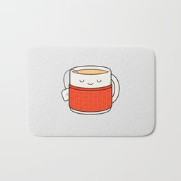 Keep warm, drink tea! Bath Mat