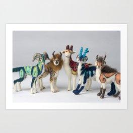 Fantastic Felted Beasts Art Print
