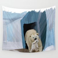 bears Wall Tapestries featuring Bears by Elena Napoli