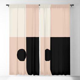 Pink & Black  Blackout Curtain