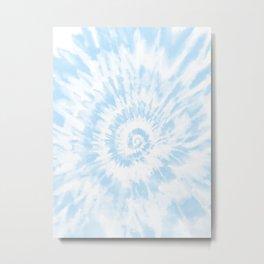 Lighter Ocean Blue Tie Dye Metal Print