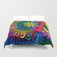 peace Duvet Covers featuring peace !!! by Shea33
