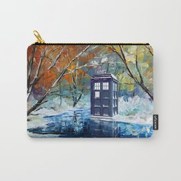 Starry Winter blue phone box Digital Art iPhone 4 4s 5 5c 6, pillow case, mugs and tshirt Carry-All Pouch