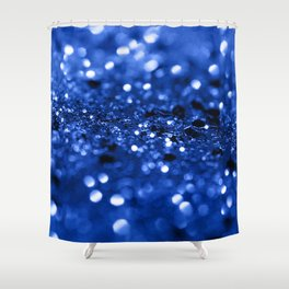 Blue Lady Glitter #1 #shiny #decor #art #society6 Shower Curtain