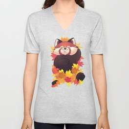 Relaxing Red Panda Unisex V-Neck