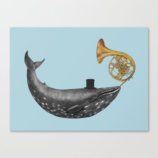 Whale Song - colour option Canvas Print