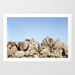 Rocks in Joshua Art Print