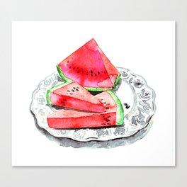 Wassermelone   Watermelon Canvas Print