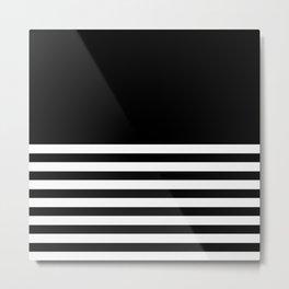 SIMPLE STRIPES (BLACK-WHITE) Metal Print