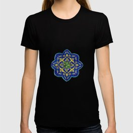Samarkand blue and yellow ornament T-shirt