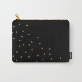 Gold Sparkle Glitter Heart- Luxury and glamour Hearts pattern Carry-All Pouch