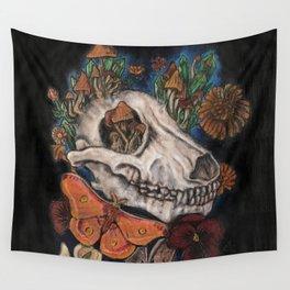 Mushroom Skull Wall Tapestry