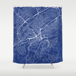 Knoxville Map, USA - Blue Shower Curtain
