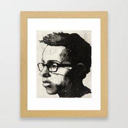Luke with Flowers Framed Art Print