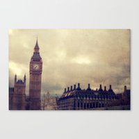 london Canvas Prints featuring London by The Last Sparrow