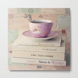 French Style Tea Metal Print