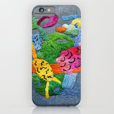 abstract embroidery iPhone 6s Slim Case