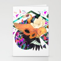 kris tate Stationery Cards featuring PAPAYA by Carboardcities and Kris tate by cardboardcities