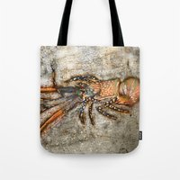 lobster Tote Bags featuring Lobster by Buster Fidez