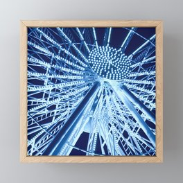 Ferris wheel in midnight blue Framed Mini Art Print