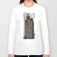 hallion Long Sleeve T-shirts featuring ....to find a way out! by Karen Hallion Illustrations
