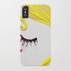 Girl Face Papercut iPhone X Slim Case