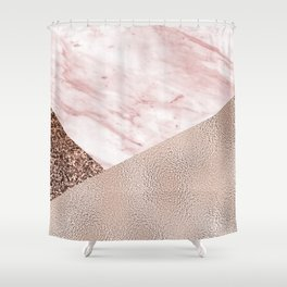 Cotton candy dreams - rose gold Shower Curtain