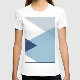 Geometrics - blues & concrete T-shirt