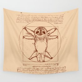 Vitruvian Sloth Wall Tapestry