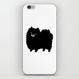 Black Pomeranian iPhone Skin