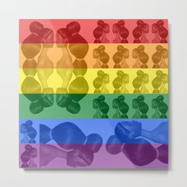BARBIE ARMY - Rainbow Flag Metal Print