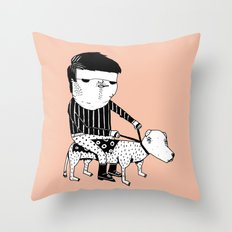 Jack the Dog Rider Throw Pillow
