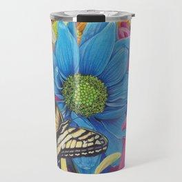 Nana's Garden Daisy swallowtail butterfly Art Print Travel Mug