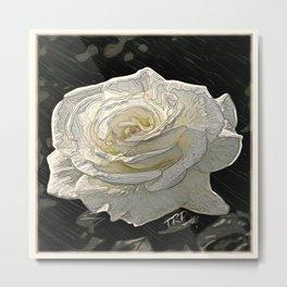 Floral Embosses: Roses 05-02 Metal Print