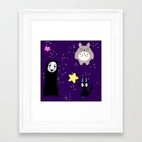 studio ghibli Framed Art Prints featuring Ghibli by KawaiiLily