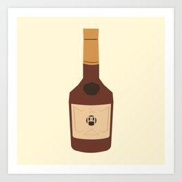 Abstract Hennessy Bottle Art Print