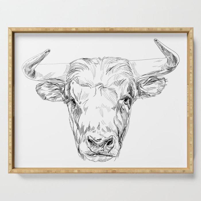 Bull illustration Serving Tray