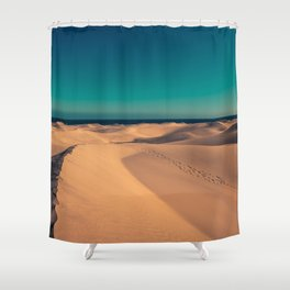 Sunset over the sand dunes Shower Curtain