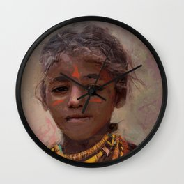 Strong Girl Wall Clock