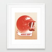 mario kart Framed Art Prints featuring Mario Kart by Chase Kunz