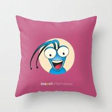 Tony the Beetle Throw Pillow